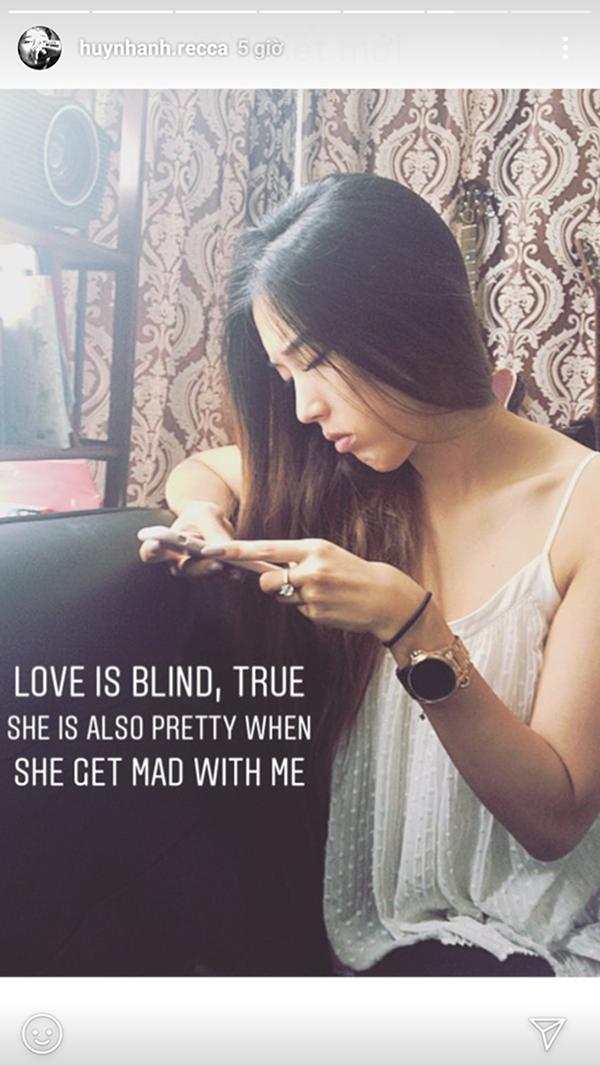Hình ảnh bạn gái Huỳnh Anh được chia sẻ trên Instagram của nam diễn viên.