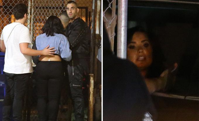 Demi Lovato từng bị chụp ảnh say xỉn rời câu lạc bộ đêm một tuần trước.