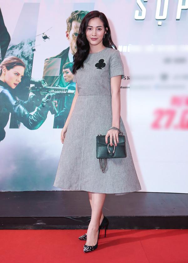 Người đẹp Mai Thanh Hà hào hứng đến thưởng thức phim bom tấn mới của Tom Cruise.