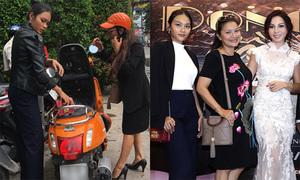 Mẹ con Kiều Trinh đi xe máy tới chúc mừng Khánh Loan