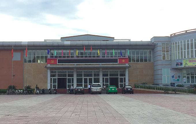 Trung tâm Văn hóa thị xã Hồng Lĩnh. Ảnh: Hùng Lê