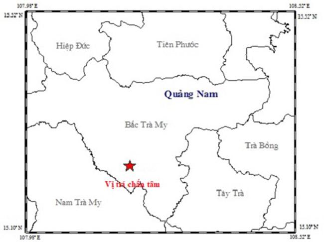 Vị trí xảy ra trận động lúc 0h19. Ảnh: Sơn Thủy.