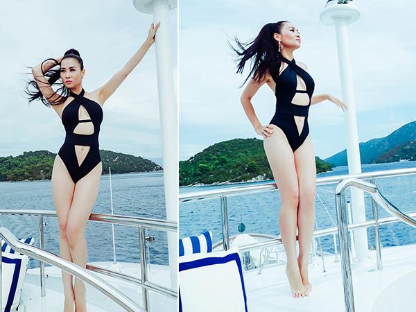 Với body chuẩn, Thu Minh tự tin diện bikini. Dưới những hình ảnh cô chia sẻ trên trang cá nhân, nhiều fan nữ độ tuổi 20 cho biết ngưỡng mộ hình thể và vóc dáng của ca sĩ.