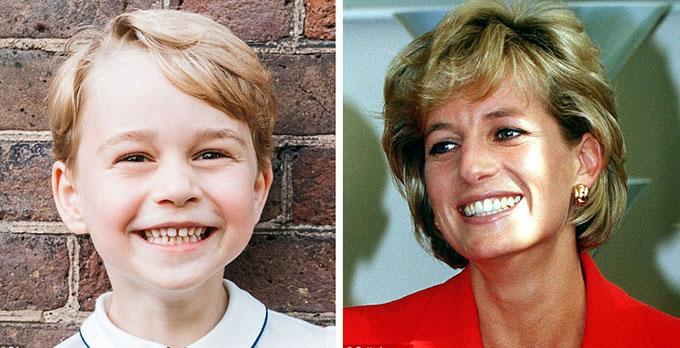 Bức chân dung mừng sinh nhật lần thứ 5 của Hoàng tử George cho thấy cậu bé có điệu cười giống cố Công nương vào năm 1996.