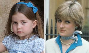 Những bức ảnh giống nhau giữa Diana và ba cháu nội
