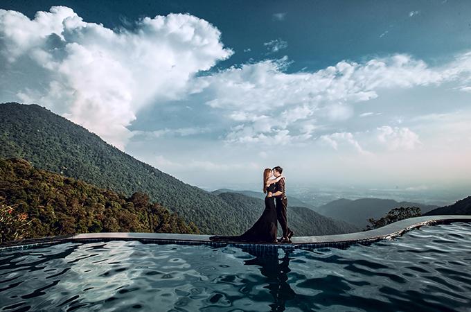 Bức hình được thực hiện ở Tam Đảo, Vĩnh Phúc. Mỗi bức ảnh đều là kỷ niệm thú vị của cặp vợ chồng.