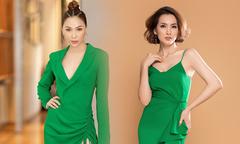 Sao Việt lăng xê tông xanh lá hot trend