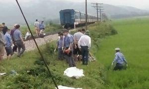 Cặp vợ chồng bị tàu hoả tông chết khi băng qua đường sắt