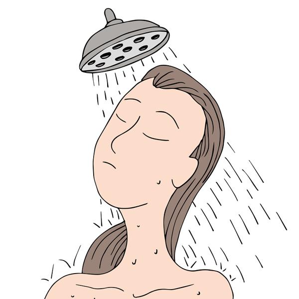 Rửa mặt bằng vòi hoa sen