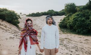 Ảnh cưới theo phong cách Ả rập của cặp được Facebook 'mai mối'