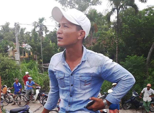 Anh Nguyễn Hữu Thành - tài xế điều khiển xe container. Ảnh: Sơn Thủy.