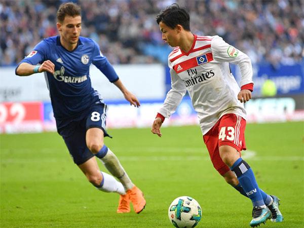Tatsuya Ito trong màu áo Hamburg ở Bundesliga. Ảnh: NN.