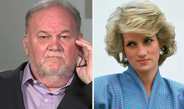 Thomas khiến hoàng gia giận dữ vì lôi cả cố Công nương Diana vào những phát biểu gây tranh cãi của mình. Ảnh: Daily Press.