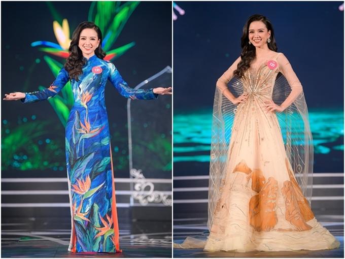 Nhan sắc của em gái Vũ Hoàng Điệp vào chung kết Hoa hậu VN 2018