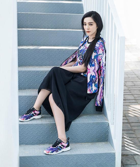 Băng Băng làm người mẫu cho Adidas.