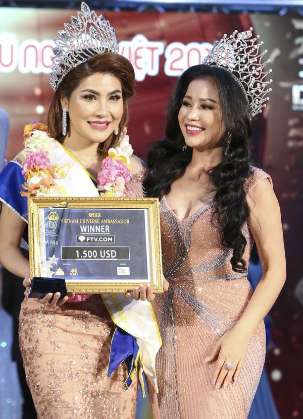 Hoa hậu Janny Thủy Trần và Tân Hoa hậu Đại sứ Hoàn Vũ Người Việt 2018 Mai Thị Ngọc Hiệp