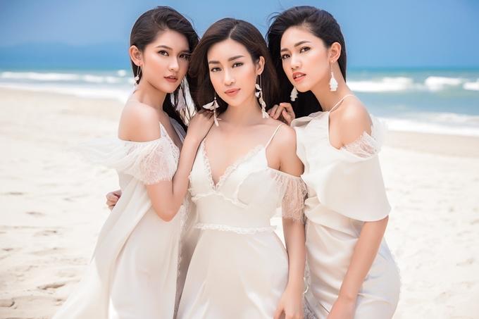 Top 3 Hoa hậu Việt Nam 2016 - Á hậu Thùy Dung, Hoa hậu Mỹ Linh, Á hậu Thanh Tú - khoe sắc trong bộ ảnh mới ở Đà Nẵng.