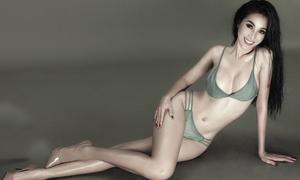 Nữ hoàng Trang sức Mỹ Duyên khoe đường cong với bikini và nội y