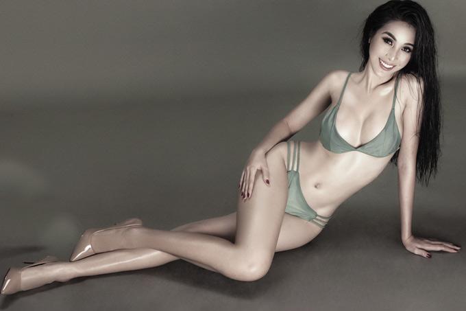 Cô rất tự tin với vóc dáng sexy, sau thời gian nỗ lực tập luyện, ăn kiêng.