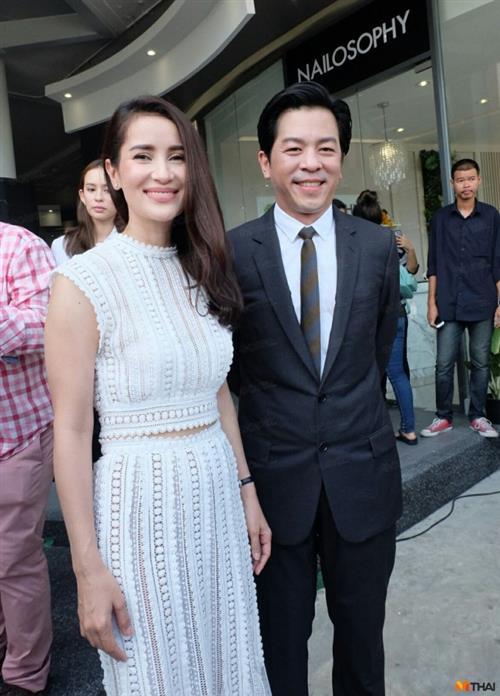 Anne Thongprasom và người yêu tại sự kiện hôm cuối tháng 7.