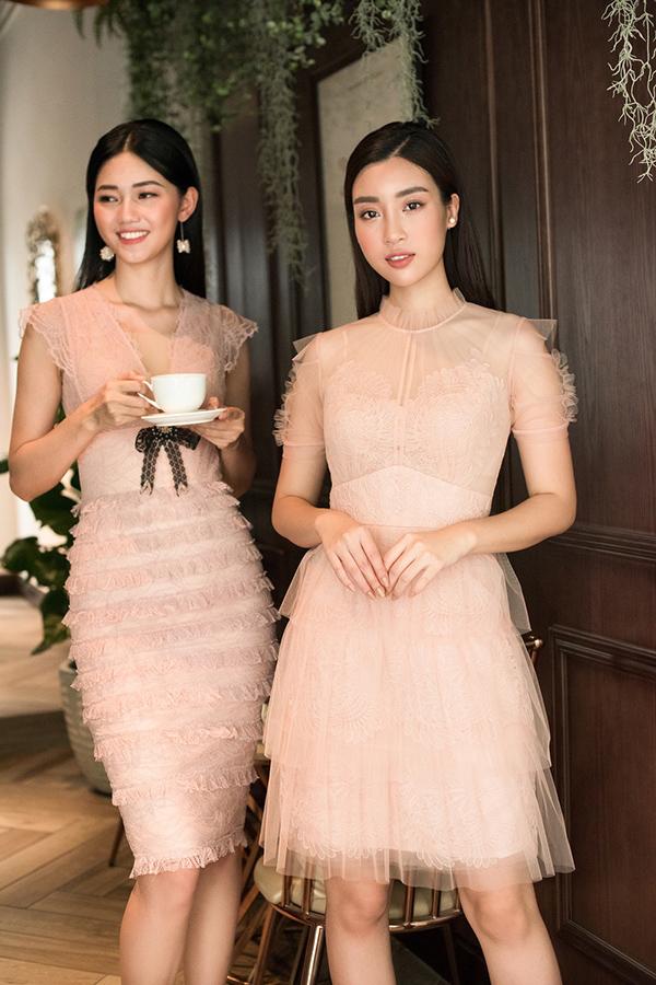 Đỗ Mỹ Linh, Thanh Tú khoe sắc cùng váy ren - 1