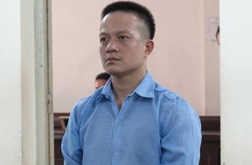 Vũ Hữu Hà tại phiên tòa sơ thẩm.