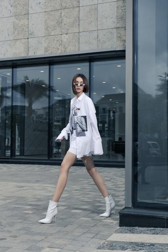 Mlee kéo dài đôi chân nhờ loạt trang phục hợp mốt - 2