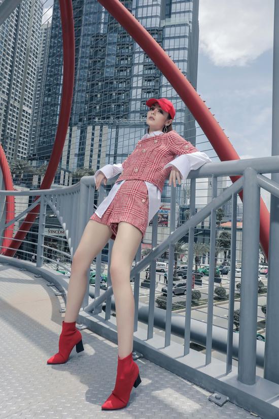 Mlee kéo dài đôi chân nhờ loạt trang phục hợp mốt - 4