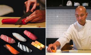 Màn chế biến đạt tới 'cảnh giới' của nghệ nhân sushi Nhật Bản