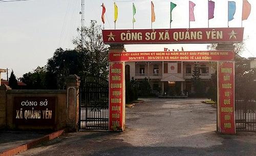 Công sở xã Quảng Yên. Ảnh: Lam Sơn.