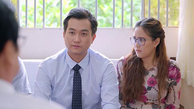 Phương Hằng và Anh Tuấn trong một cảnh quay của tập 39 Gạo nếp gạo tẻ.