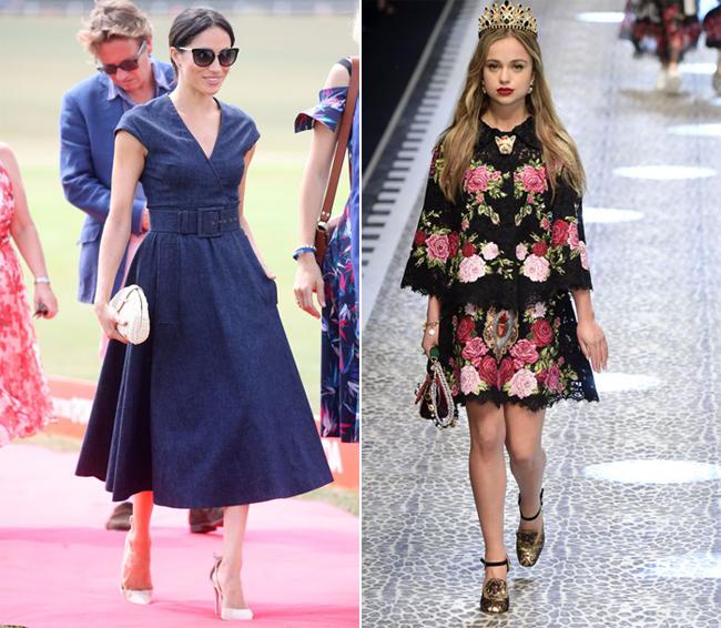 Meghan (trái)và Lady Amelia Windsor (phải) là hai thành viên trẻ tuổi của hoàng gia được bình chọn. Ảnh: PA.