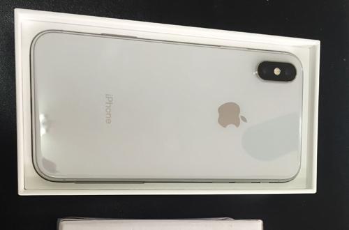 Chiếc iPhone X tang vật vụ án.