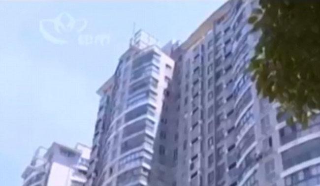 Tòa nhà nơi Yue Yue sống cùng gia đình và bị ngã. Ảnh: Changzhou TV Station.