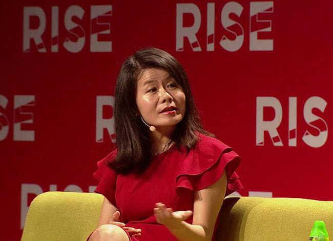 Miranda Qu tại sự kiện Rise diễn ra tại Trung Quốc năm 2016. Ảnh: Rise Conf.