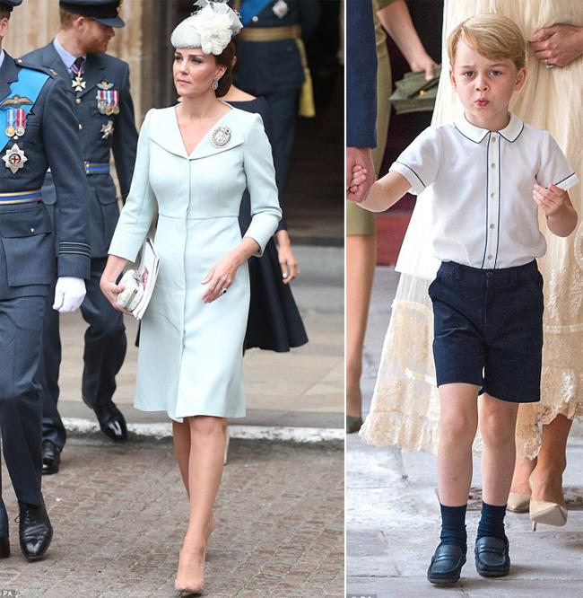 Kate nhiều lần được bình chọn mặc đẹp ở Anh, trong khi đó, Hoàng tử George lần đầu lọt vào danh sách này. Ảnh: PA.