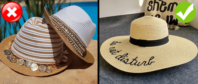 5. Mũ phớt vành nhỏ (trilby hat)Thay vì đội mũ trilby lỗi mốt, bạn hãy chọn mũ cói rộng vành để trở thành quý cô sành điệu, đồng thời che nắng tốt hơn.