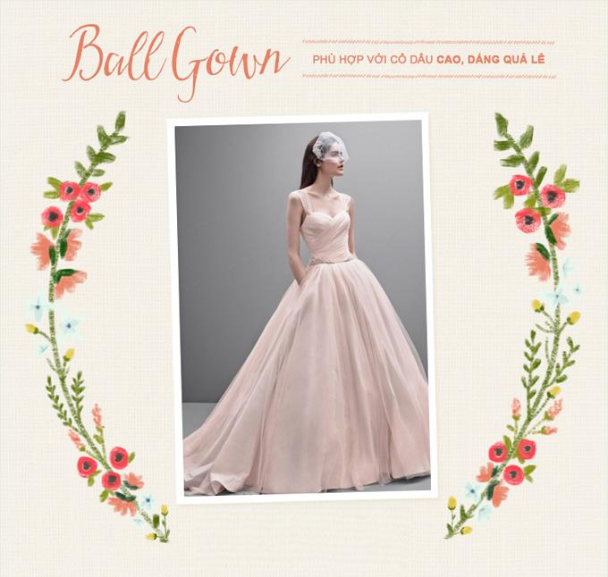 Những mẫu váy cưới kinh điển cho từng vóc dáng - 2