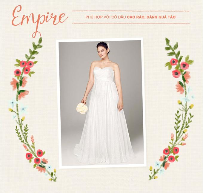 Những mẫu váy cưới kinh điển cho từng vóc dáng - 3