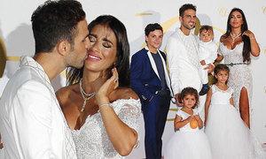 Khoảnh khắc đẹp trong đám cưới của Fabregas và người tình hơn tuổi