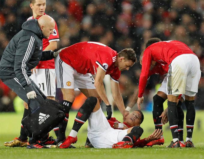 MU có nhiều ca chấn thương thứ hai sau Arsenal. Ảnh: NN.