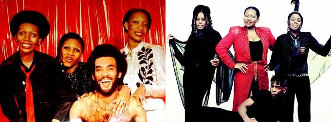Boney M phiên bản 1975 (trái) và 2016 (phải).
