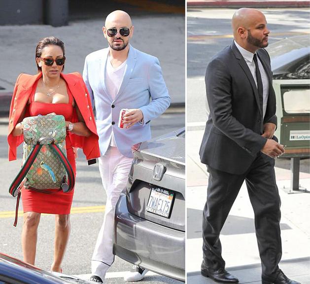 Gary từng hộ tống Mel B tới tòa để đối chất với chồng cũ - Stephen Belafonte - vào ngày 4/6.