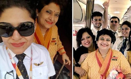 Chuyến bay có con gái là phi công, mẹ làm tiếp viên
