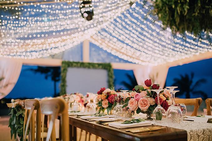 Những khóm hoa hồng nhiều màu hứa hẹn sẽ mang đến cho bạn không gian tiệc cưới thân mậtvà lãng mạn.
