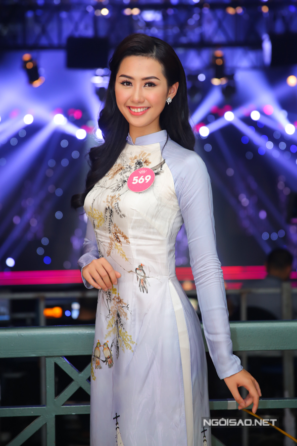 Nữ tiếp viên hàng không Phạm Ngọc Linh là một thí sinh nhận được nhiều quan tâm từ đầu cuộc thi.
