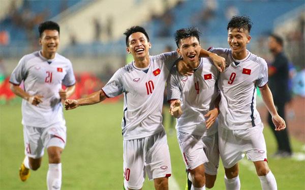 Olympic Việt Nam có bàn thắng phút cuối. Ảnh: Lâm Thỏa.