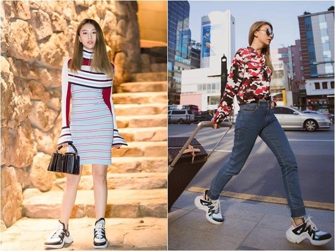 Quỳnh Anh Shyn biến hoá nhiều trang phục khác nhau, từ đi tiệc đến thời trang sân bay.
