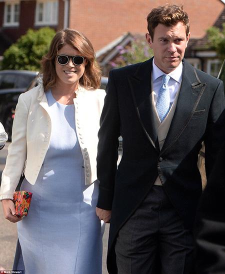 Công chúa Eugenie và hôn phu Jack Brooksbank cũng là hai trong số các khách mời ở đám cưới.