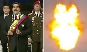 Khoảnh khắc máy bay không người lái nghi ám sát tổng thống Venezuela nổ tung